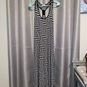 Black and white maxi dress from Calvin Klein